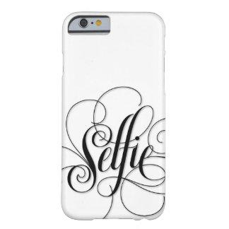 """Caja blanca de lujo del iPhone 6 de """"Selfie"""" de la Funda Barely There iPhone 6"""