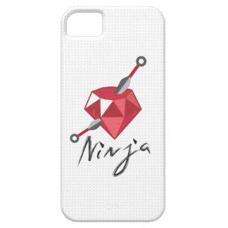 Caja blanca de rubíes del iPhone 5 de Ninja del iPhone 5 Carcasa