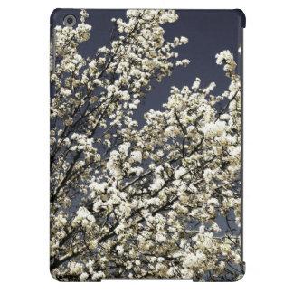 Caja blanca del aire del iPad de las flores de cer Funda Para iPad Air