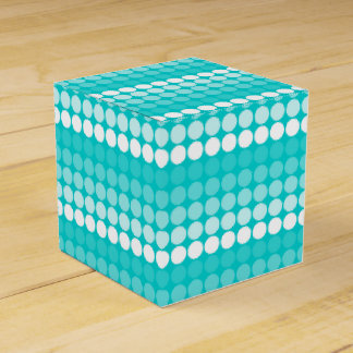 Caja blanca del favor de los círculos de la caja para regalos