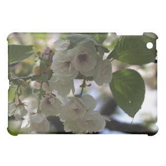 Caja blanca del iPad de los rododendros