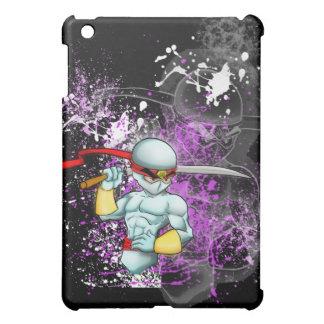 Caja blanca del iPad del individuo de Ninja