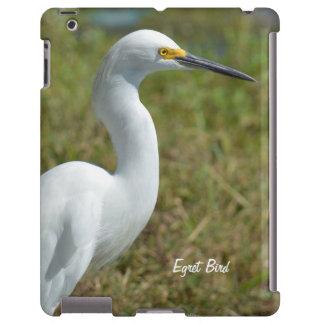 Caja blanca del iPad del pájaro del Egret