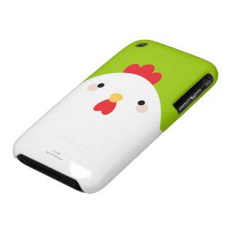 Caja blanca del iPhone 3 del pollo Case-Mate iPhone 3 Carcasa