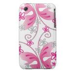 Caja blanca del iPhone 3g/3gs: Mariposas rosadas iPhone 3 Case-Mate Cárcasas