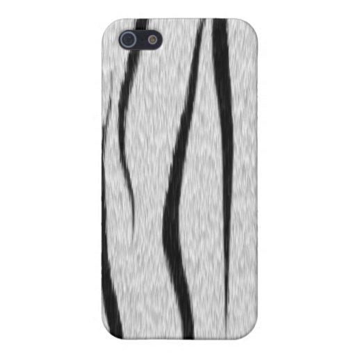 Caja blanca del iPhone 4 de la piel del tigre iPhone 5 Funda