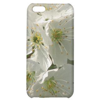 Caja blanca del iPhone 4 de las flores de cerezo