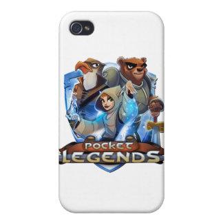 Caja blanca del iPhone 4 de las leyendas del bolsi iPhone 4 Fundas