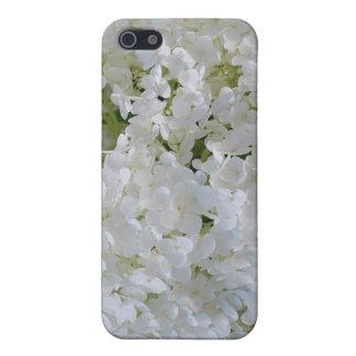 Caja blanca del iPhone 4 de los Hydrangeas iPhone 5 Carcasa