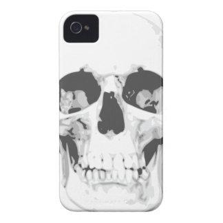 Caja blanca del iPhone 4 del cráneo de la muerte iPhone 4 Case-Mate Cárcasa