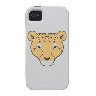 caja blanca del iphone 4 del gato salvaje iPhone 4 carcasas