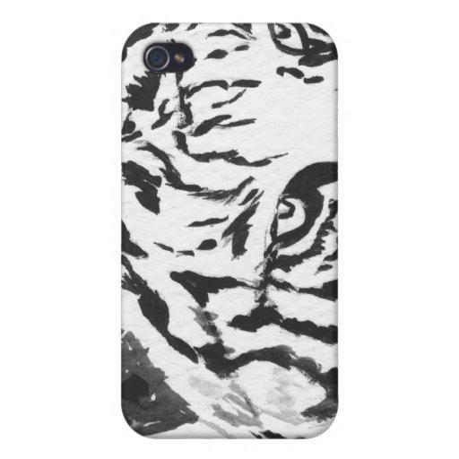 Caja blanca del iPhone 4 del tigre de Bengala iPhone 4/4S Carcasas