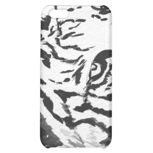 Caja blanca del iPhone 4 del tigre de Bengala