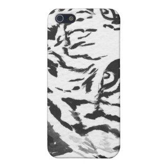 Caja blanca del iPhone 4 del tigre de Bengala iPhone 5 Cárcasa