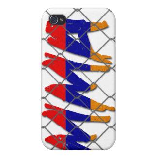 Caja blanca del iphone 4g del Muttahida iPhone 4 Fundas
