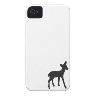 Caja blanca del iPhone 4S de la silueta del negro  iPhone 4 Fundas