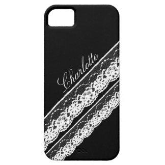 Caja blanca del iPhone 5 de las cintas del cordón iPhone 5 Case-Mate Cobertura