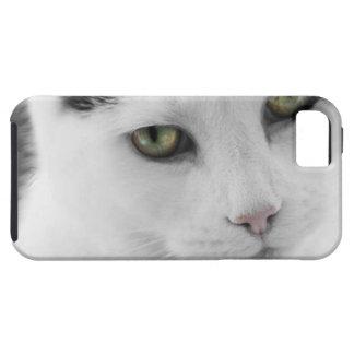 Caja blanca del iPhone 5 de Tough™ del gato iPhone 5 Case-Mate Protector