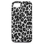 Caja blanca del iPhone 5 del diseño del leopardo iPhone 5 Case-Mate Cárcasa
