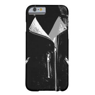 Caja blanca del iPhone 6 de la chaqueta de cuero Funda De iPhone 6 Barely There
