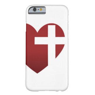 Caja blanca del iPhone 6 de la iglesia del rescate Funda De iPhone 6 Barely There