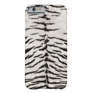 Caja blanca del iPhone 6 de la piel del tigre Funda De iPhone 6 Barely There