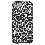 Caja blanca del iPhone 6 del diseño del leopardo