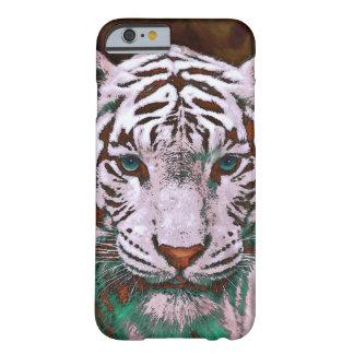 caja blanca del iPhone 6 del tigre Funda De iPhone 6 Barely There