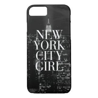Caja blanca del iPhone 7 del negro del chica de Funda iPhone 7