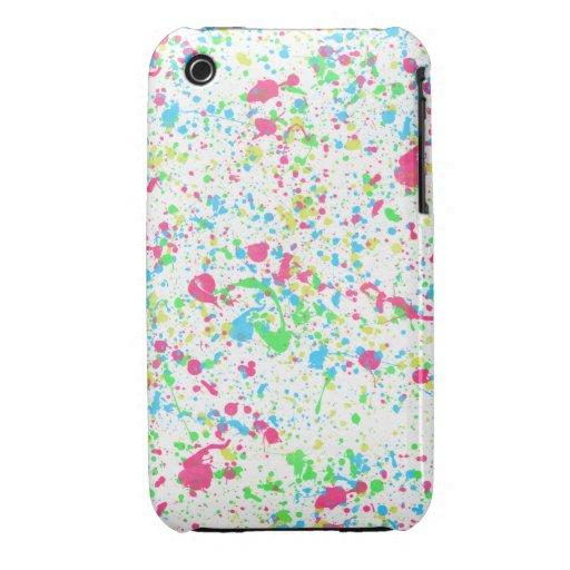 Caja blanca del iPhone de la salpicadura de la pin iPhone 3 Cárcasas
