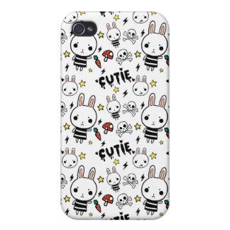Caja blanca del iPhone del modelo del conejito de iPhone 4 Carcasas