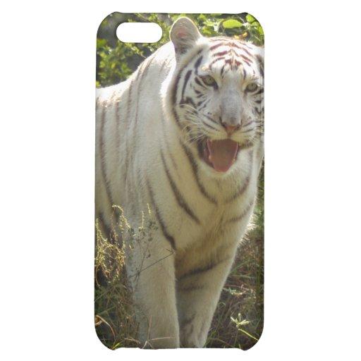 Caja blanca del iPhone del tigre
