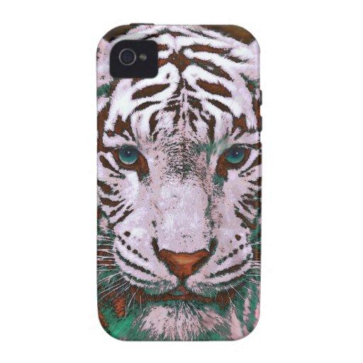 caja blanca del iphone del tigre carcasa para iPhone 4/4S