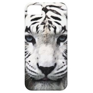 Caja blanca del teléfono 5 del modelo i del tigre iPhone 5 funda