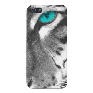 Caja blanca del teléfono del tigre iPhone 5 cobertura