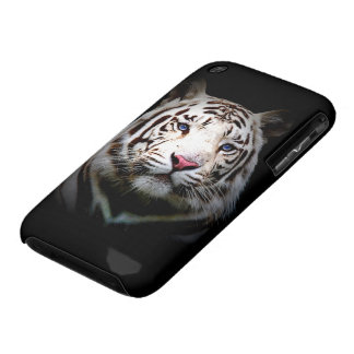 Caja blanca del tigre iPhone 3 Case-Mate protectores