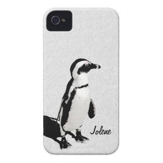 Caja blanca negra artsy moderna del iPhone 4 del p Case-Mate iPhone 4 Coberturas