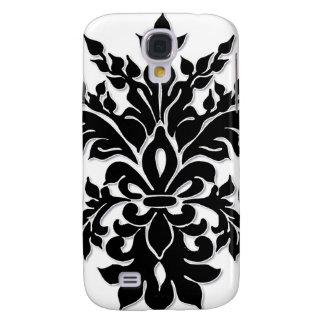 Caja blanca negra de Iphone 3 de la flor de lis de Funda Para Galaxy S4