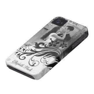 Caja blanca negra del iPhone 4 de la plantilla de  iPhone 4 Coberturas