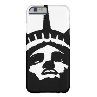 Caja blanca negra del iPhone 6 de la libertad de Funda Barely There iPhone 6