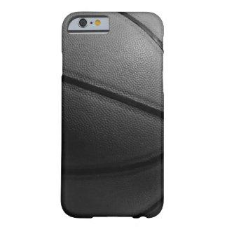 Caja blanca negra del iPhone 6 del baloncesto del Funda Barely There iPhone 6