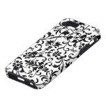 Caja blanca negra floral linda del iPhone 5 del da iPhone 5 Case-Mate Cárcasas