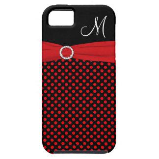 Caja blanca negra roja del iPhone 5 de los lunares iPhone 5 Case-Mate Cobertura