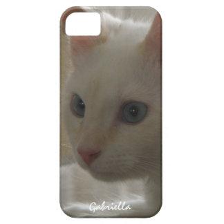 Caja blanca personalizada del gatito iPhone 5 Case-Mate cobertura