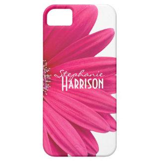 Caja blanca rosada del iPhone 5 de la margarita de iPhone 5 Protector