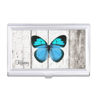 Caja blanca rústica de la tarjeta de visita de mad caja de tarjetas de presentación
