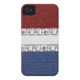 Caja blanca y azul roja de Blackberry Iphone del d