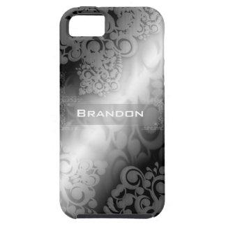 Caja blanca y gris negra de Iphone 5 iPhone 5 Funda