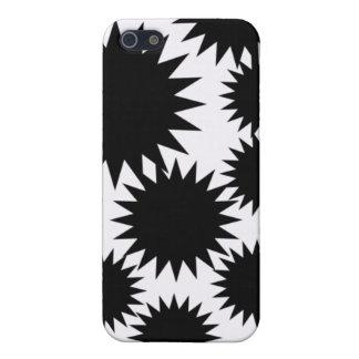 Caja blanco y negro de IPhone iPhone 5 Fundas