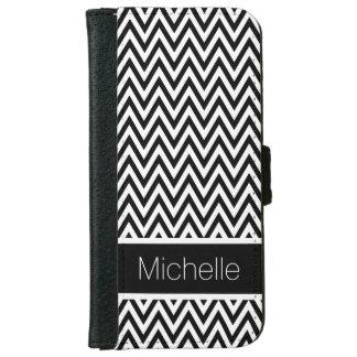 Caja blanco y negro de la cartera del iPhone 6 de Funda Cartera Para iPhone 6
